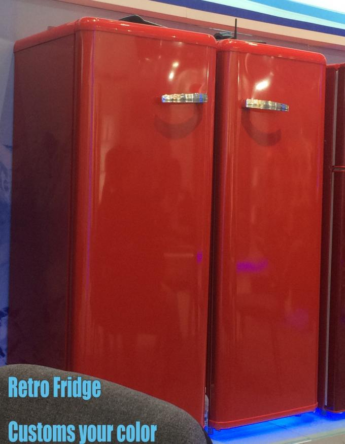 BCD-210 retro fridge, double door refrigerator, colorful refrigerator