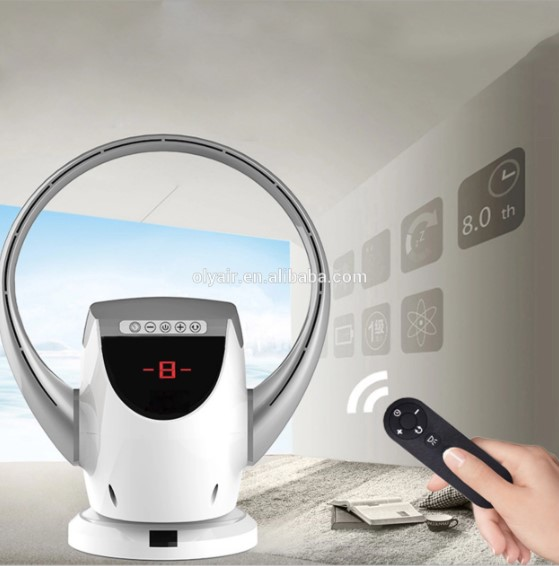 Wall mounted Bladeless Fan remote control LED Screen