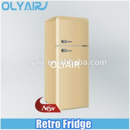 BCD-210 retro fridge, double door refrigerator, colorful refrigerator supplier