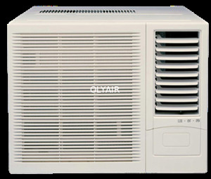 China 12000btu R410a window aircon mechanical control cooling only remote control distributor