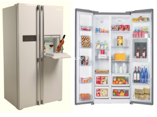 China BCD-580WT 580L side by side fridge with water dispenser mini bar distributor